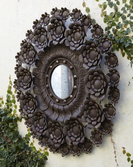 Outdoor Spanish Floral Mirror
