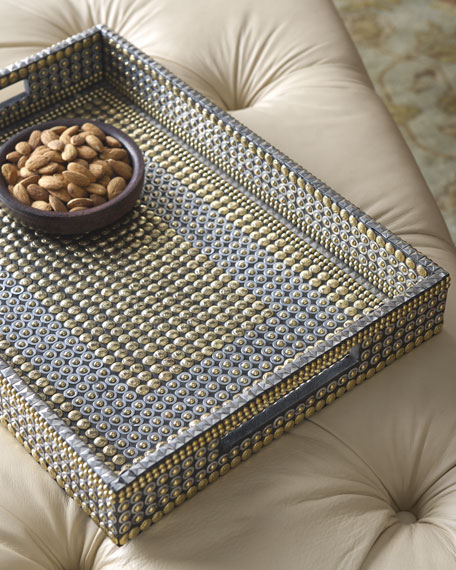 Golden Nailhead Tray