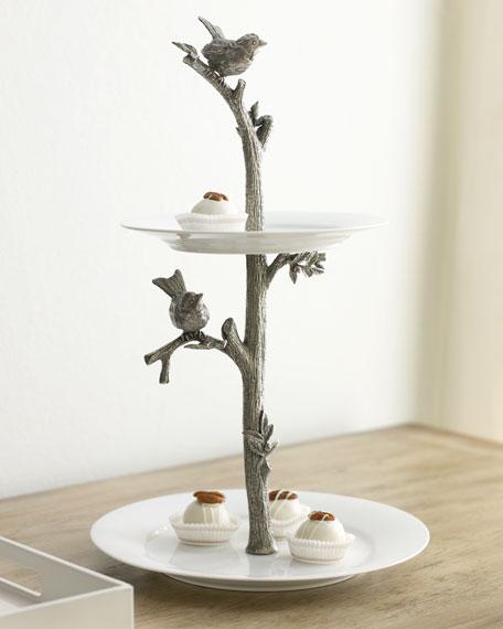 """""""Bird"""" Two-Tier Dessert Stand"""