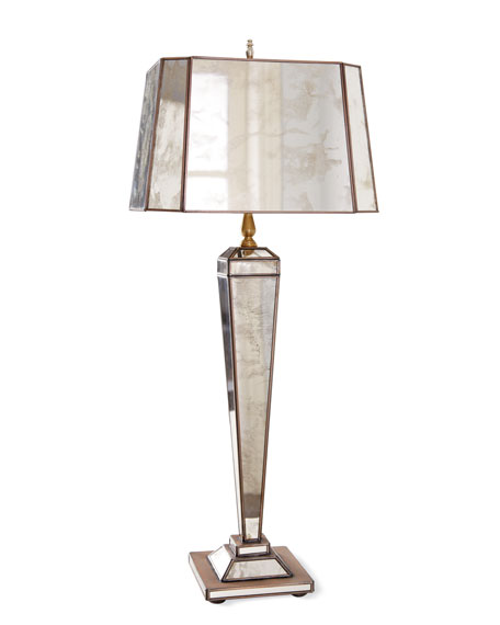 """Hilton"" Mirrored Lamp"