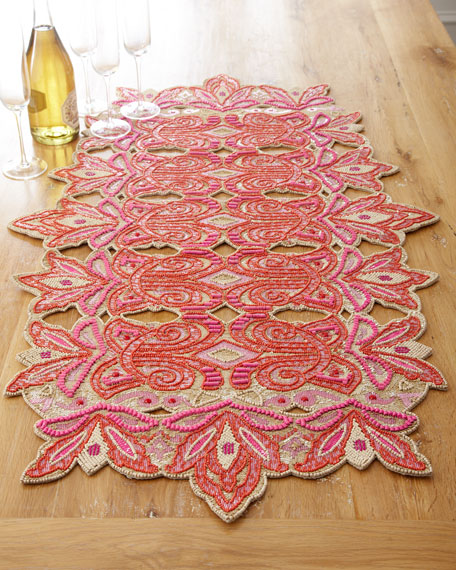 """""""Royal Gate"""" Embroidered Table Runner"""