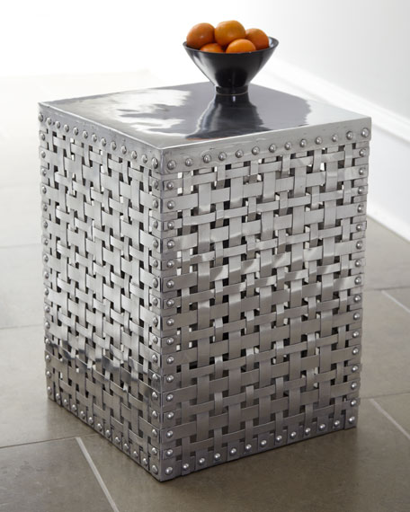 """""""Woven Square"""" Side Table"""