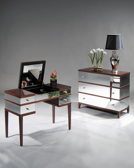 """Marilyn"" Mirrored Hall Chest"