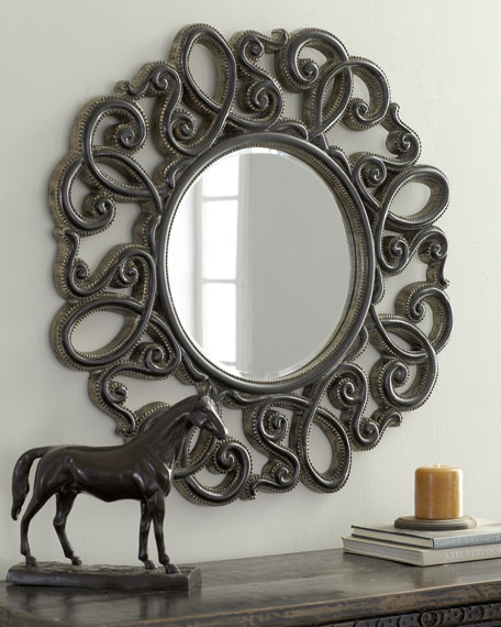 """Studded Scroll"" Mirror"