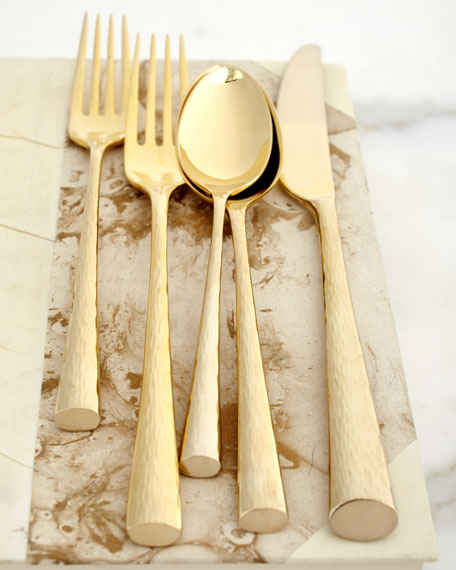 """Imperial Caviar"" Gold-Plated Flatware, Five-Piece Place Setting"