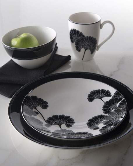 "Four-Piece ""Japanese Floral"" Dinnerware Place Setting"