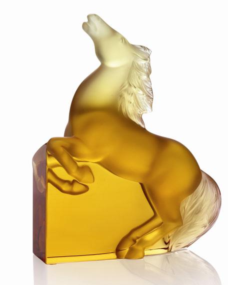 """Amber """"Kazak"""" Horse Figure"""