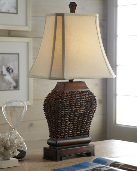 """""""Augustine"""" Woven Lamp"""