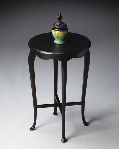 Round Queen Anne-Style Accent Table