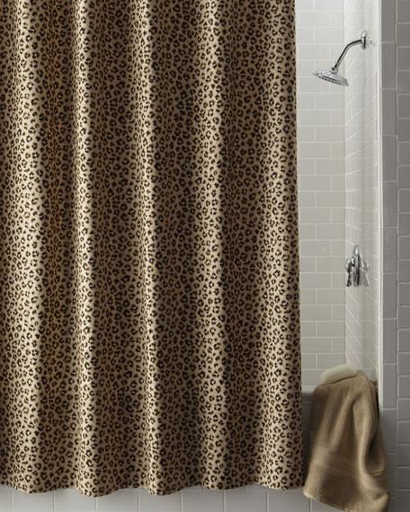 Leopard-Print Shower Curtain