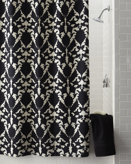 """Silhouette"" Floral Shower Curtain"