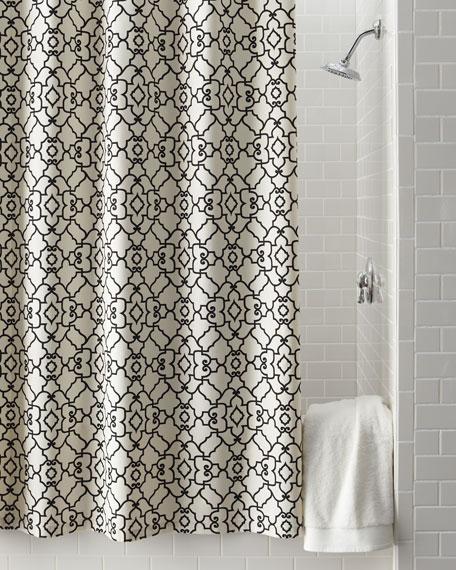 """Windsor"" Scrollwork Shower Curtain"