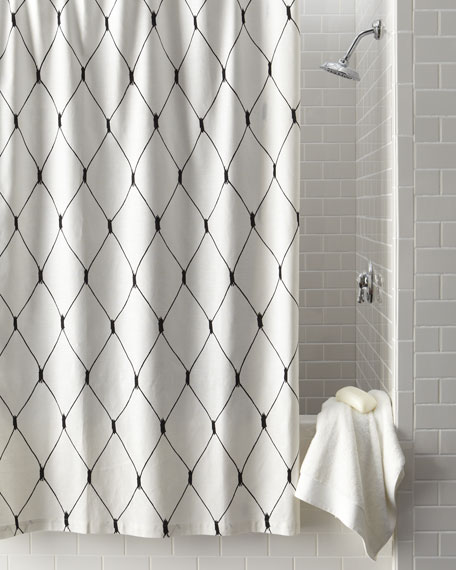"""Linea Graphic"" Diamond Shower Curtain"