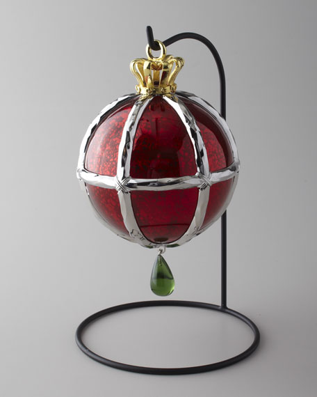 """""""Forged Globe"""" Christmas Ornament"""