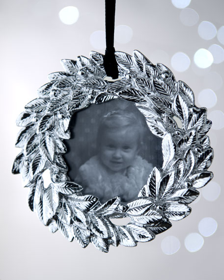 """Bayberry Wreath"" Annual Frame Christmas Ornament"