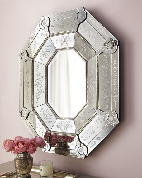 Octagonal Venetian-Style Mirror
