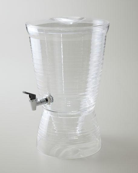 Ridged Acrylic Beverage Dispenser