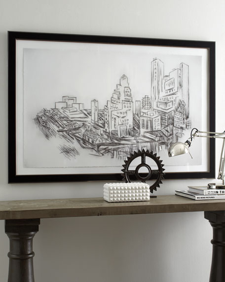 Black & White City Giclee