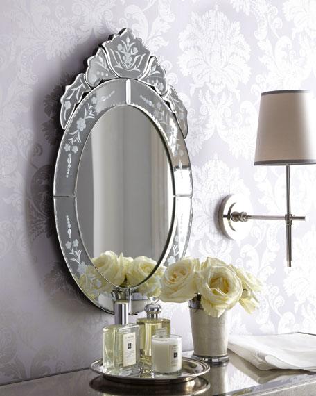 Oval Venetian-Style Mirror