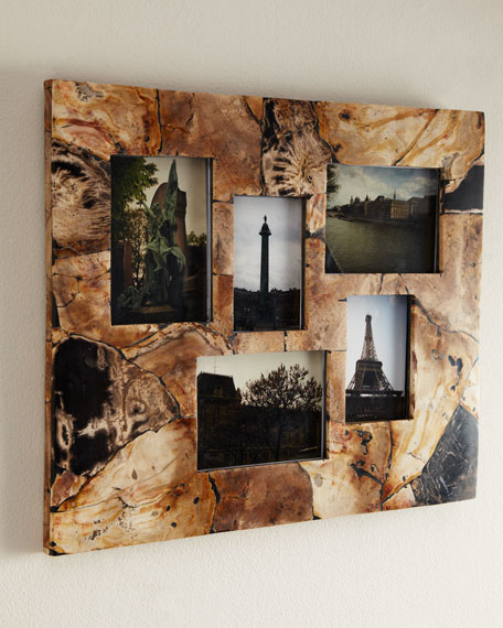 Petrified Wood Collage Frame