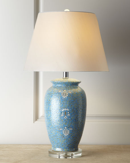 "Blue ""Mosaic"" Lamp"