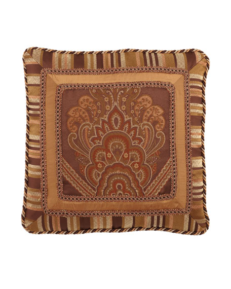 "Carlisle Triple-Frame Pillow with Gimp & Cording, 21""Sq."