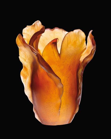 """Amber """"Tulip"""" Vase"""
