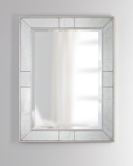 Beveled Mirror with Eglomise Accents