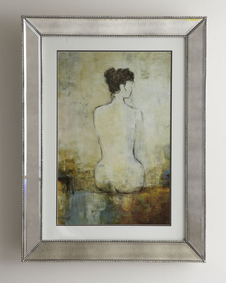 Nude in Mirrored Frame