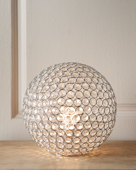 BOSLEY TABLE LAMP, CLEAR