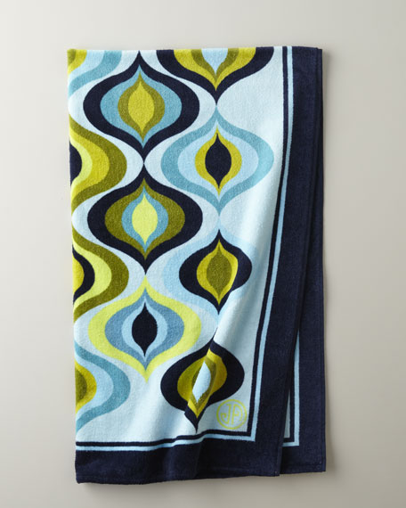 "Blue ""Waves"" Beach Towel"