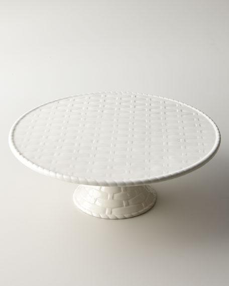 """Basketweave"" Cake Plate"