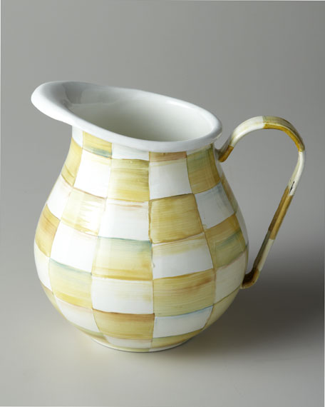 """Parchment Check"" Pitcher"