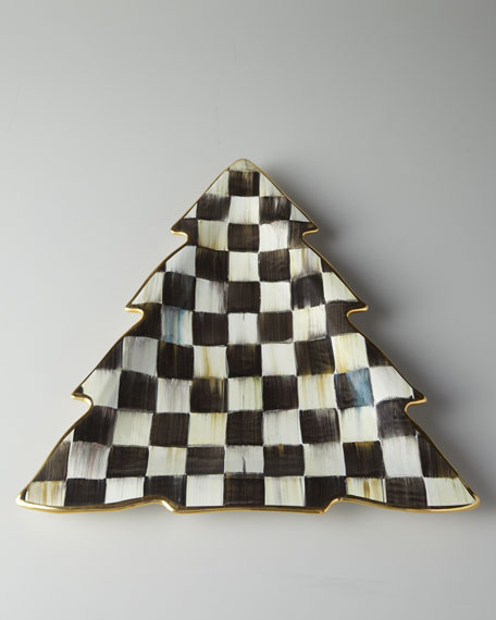 """Courtly Check"" Tree Platter"
