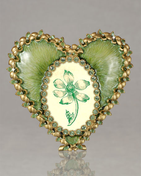 """""""Dominique"""" Fern Oval Heart Frame"""