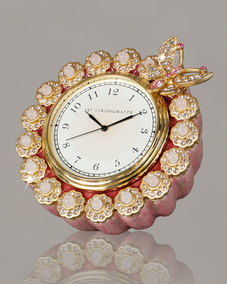 "Azalea ""Maiti"" Flower-Edge Clock"
