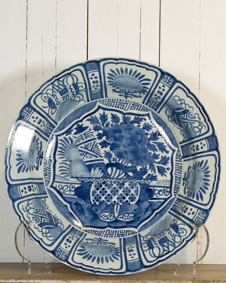 Blue & White Charger Plate