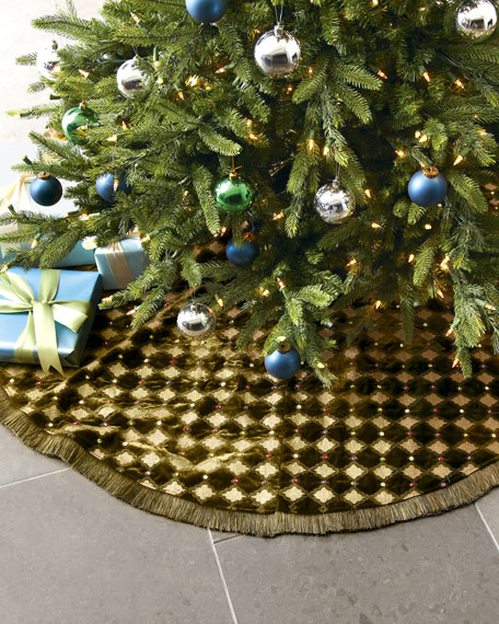 """Harlequin"" Christmas Tree Skirt"
