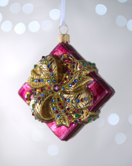 """Gift-Wrapped Box"" Christmas Ornament"