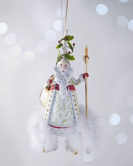 """Candlelight Santa"" Ornament"