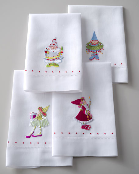 """Dash-Away Elf"" Tea Towels"
