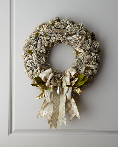 Parchment Check Wreath