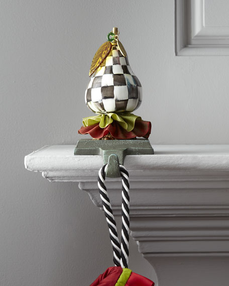 Courtly Check Pear Stocking Hook