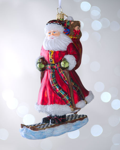 """Skiing Santa Claus"" Christmas Ornament"