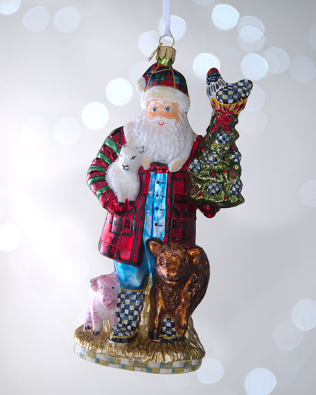 """Farmer Santa"" Christmas Ornament"