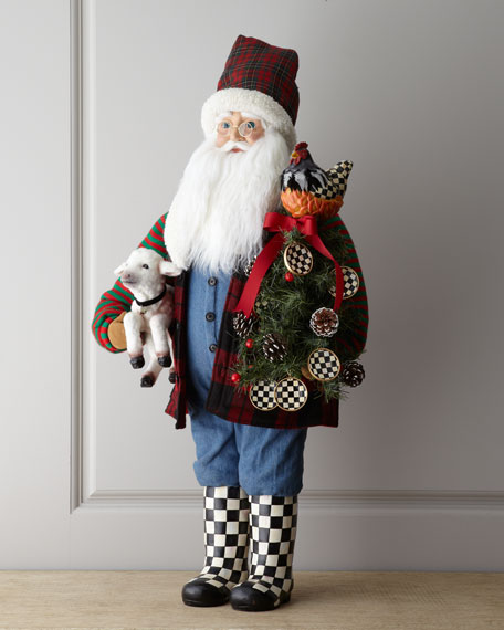 """Farmer Santa with Lamb"" Figure"