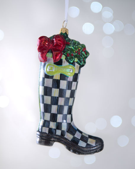 Courtly Check Rainboots Christmas Ornament