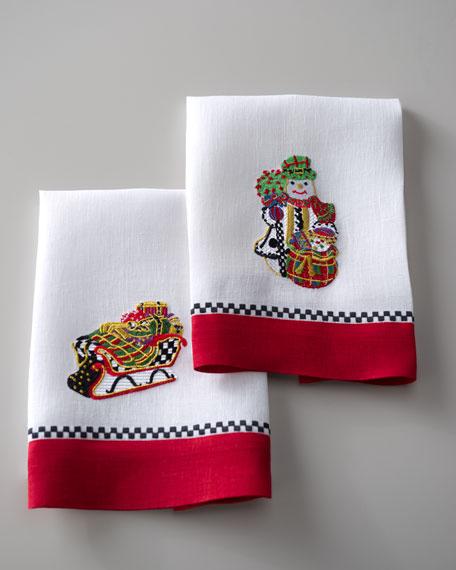 Sleigh & Snowman Guest Towels