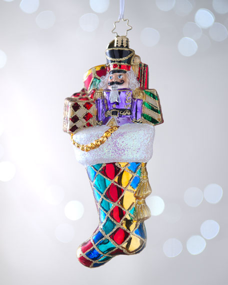 """Harlequin Gift Tote Bag"" Christmas Ornament"