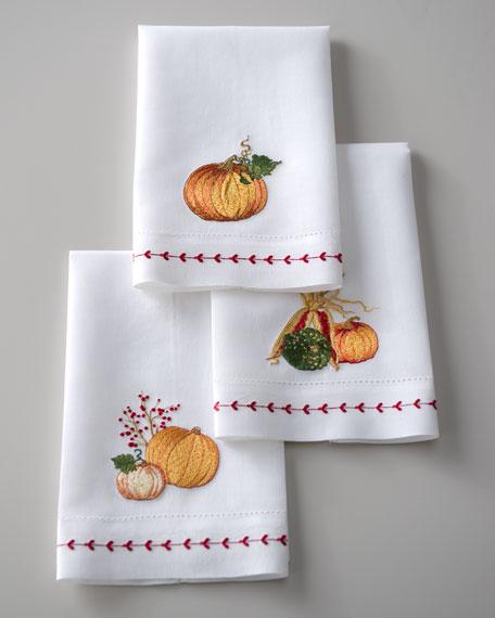 Three Pumpkin Harvest Guest Towels